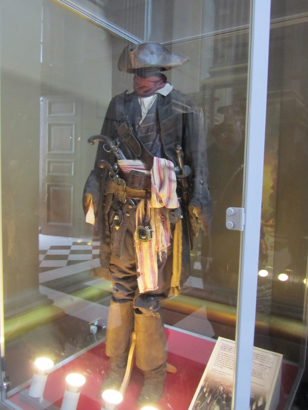 Johnny Depp's costume from Pirates 4, filmed on location in Greenwich