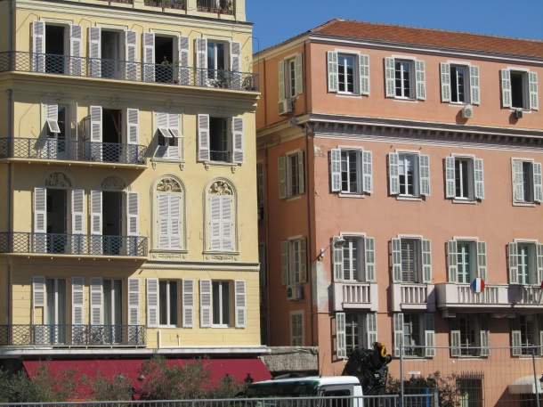 Typical buildings in Nice