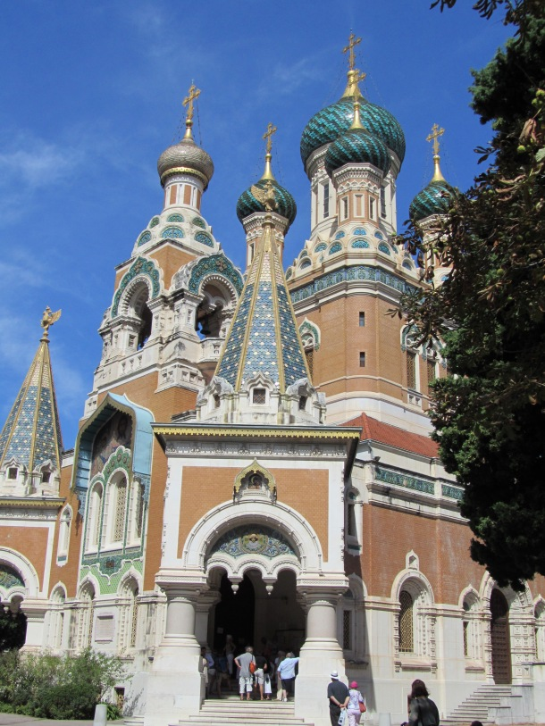 A Russian church right in the heart of Nice