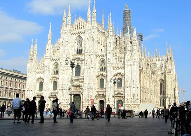 Duomo di Milano in the centre of the city