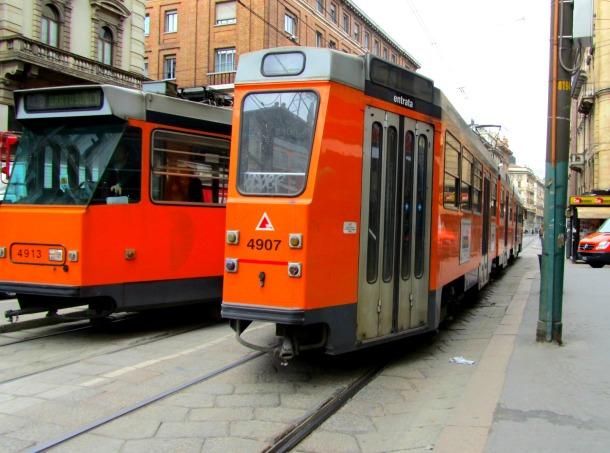 Funky orange transit