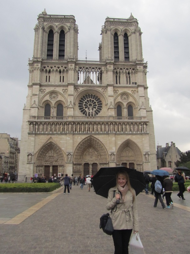 Oops.. raining at Notre Dame.