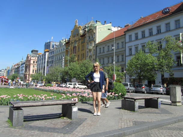 In Wenceslas Square