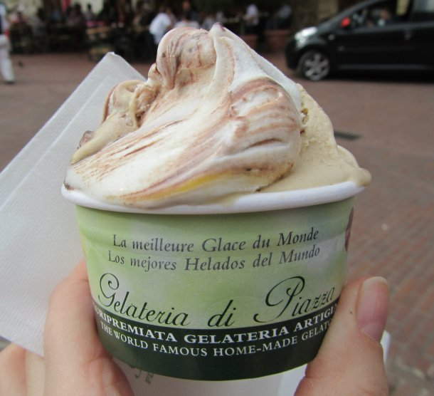 The best gelato in the world from Dondoli Gelateria, San Gimignano