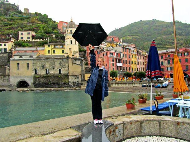 Vernazza, in the rain but still happy