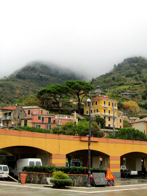 Monterosso al Mare in the afternoon fog