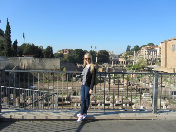 First view of the Roman ruins!